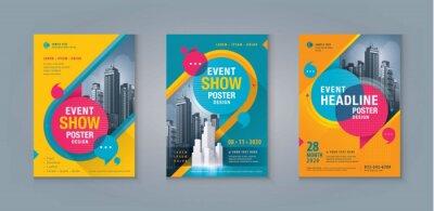Obraz Business Leaflet Brochure Flyer template Design Set. Corporate Flyer Template A4 Size