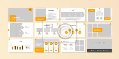 Obraz Business minimal slides presentation background template. business presentation template.