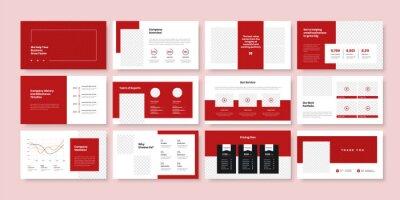 Obraz Business minimal slides presentation template