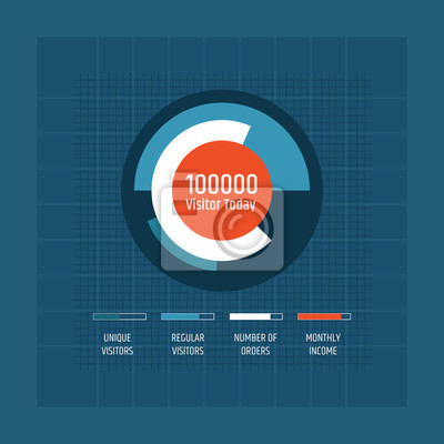 Business Pie flat Chart Icon for report, business analytics, data visualization and presentation