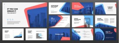 Obraz Business powerpoint presentation templates set. Use for modern keynote presentation background, brochure design, website slider, landing page, annual report, company profile.