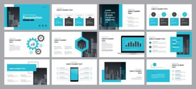 Obraz business presentation design template  backgrounds and page layout design for brochure, book, magazine, annual report and company profile, with info graphic elements graph design concept