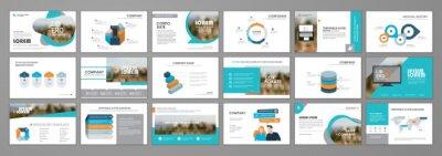Obraz Business presentation slides templates