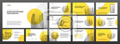 Obraz Business presentation templates set. Use for modern presentation background, brochure design, website slider, landing page, annual report, company profile.
