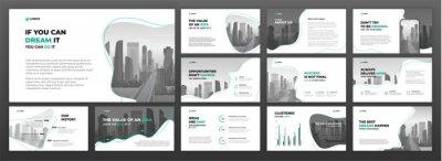 Obraz Business presentation templates set. Use for presentation background, brochure design, website slider, landing page, annual report.