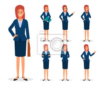 Obraz Businesswoman character set.