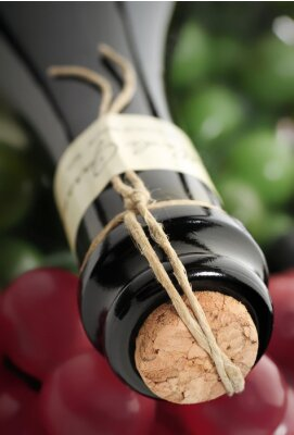 Obraz butelka wina