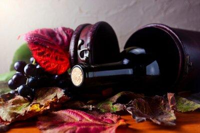 Obraz butelka z winem