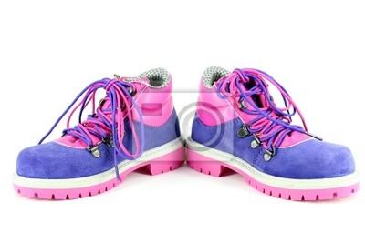 buty dla dzieci piesze wycieczki na białym tle