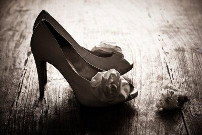 Obraz buty ślubne