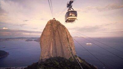 Obraz Cable Car Traffic na Sugar Loaf Mountain, Rio de Janeiro