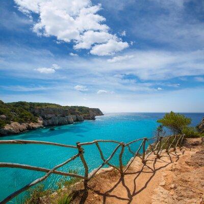 Obraz Cala Macarella Menorca turkus Balearic Mediterranean