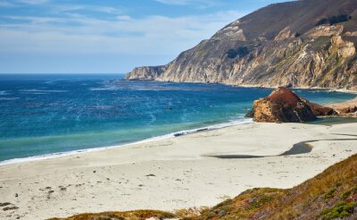 California coastline along famous Pacific Coast Highway (State Route 1), USA.