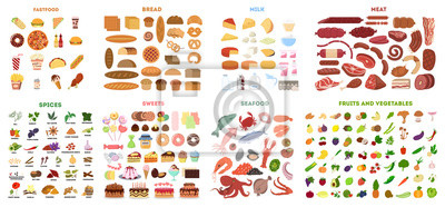 Obraz Cały zestaw żywności.