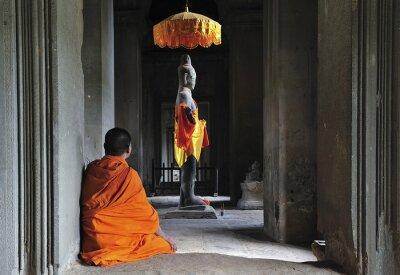 Obraz Cambodia Angkor Wat modlić się czas