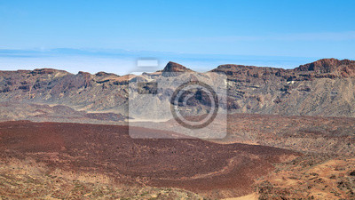 Canadas del Teide caldera is considered one of the largest calderas on earth, Teide National Park, Tenerife, Spain.