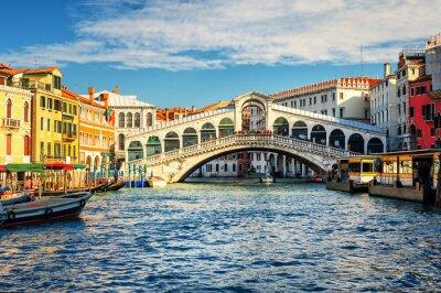 Obraz Canal Grande i Most Rialto, Wenecja, Włochy