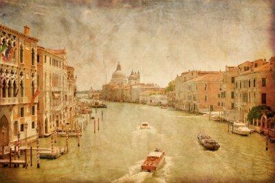 Obraz Canal Grande w Wenecji w stylu grunge, Włochy