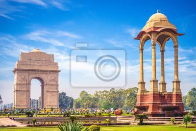 Obraz Canopy and India Gate in New Delhi, India