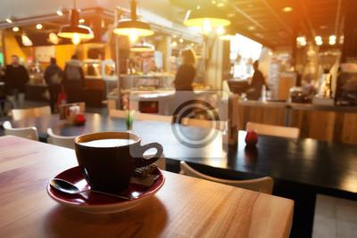 Obraz Cappuccino in cafe
