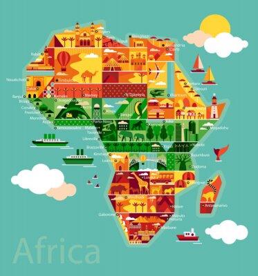 Obraz Cartoon map of Africa