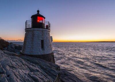 Obraz Castle Hill Lighthouse o zachodzie słońca