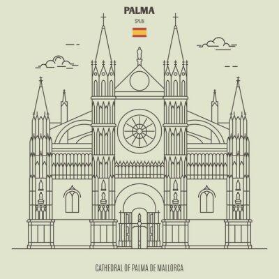 Cathedral of Palma de Mallorca, Spain. Landmark icon