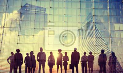 Obraz Cele misji biznesmeni inspiracji Koncepcja wzrostu Sukces