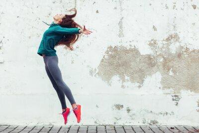 Obraz Centrum sportu Dziewczynka na ulicy