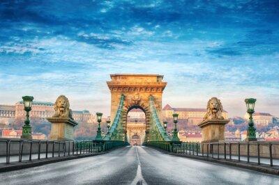 Obraz Chain bridge Budapest Hungary