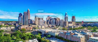 Obraz Charlotte, North Carolina, USA Skyline Aerial