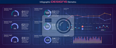 Charts dashboard. Financial analytical chart, futuristic web admin panel and trading analysis website ui. Minimalistic infographic template, statistics graphs or progress dashboards column vector