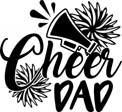 Obraz Cheer dad on the white background. Vector illustration