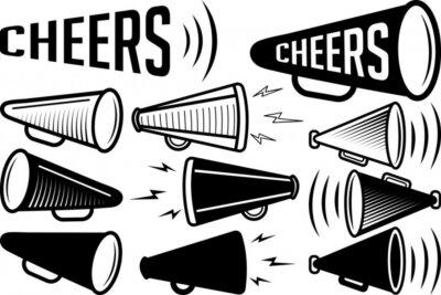 Obraz Cheer Megaphone SVG Cut Files   Megaphone SVG   Cheer Silhouette Bundle