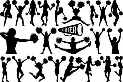 Obraz Cheerleader SVG Cut Files   Cheer Mom Svg   Cheer Svg   Cheer Girls Silhouette Bundle
