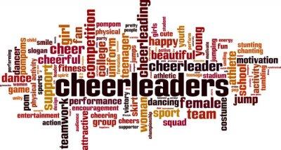Obraz Cheerleaders word cloud