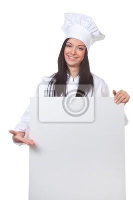 Chef z pustym pokładzie menu jako