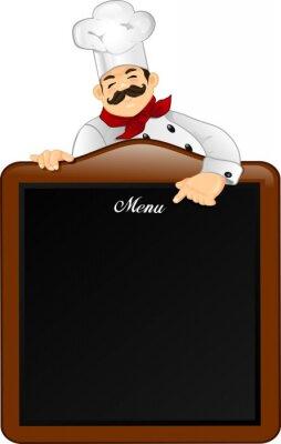 Obraz Chef z tablicy