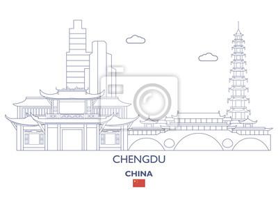 Chengdu City Skyline, Chiny
