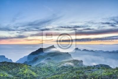 Cherfe panoramiczny zachód słońca widokowa