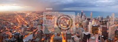 Chicago aerial panorama