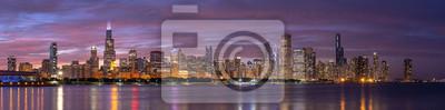 Obraz Chicago downtown buildings skyline panorama