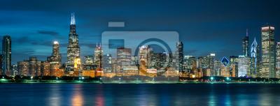 Obraz Chicago skyline by night