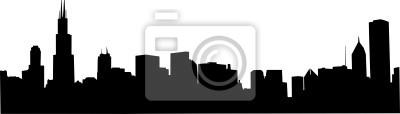 Obraz Chicago Skyline Wektor