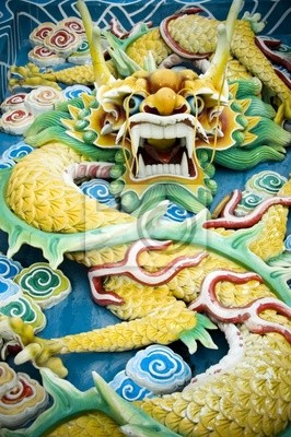 chiński smok jade feng shui