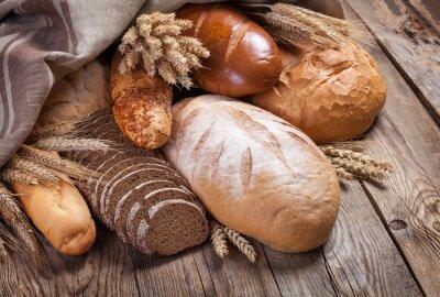 Obraz Chleb i uszy na starym stole