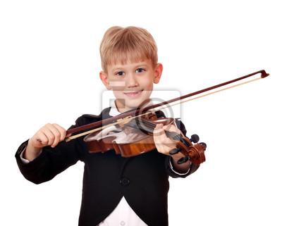Chłopiec trochę skrzypek