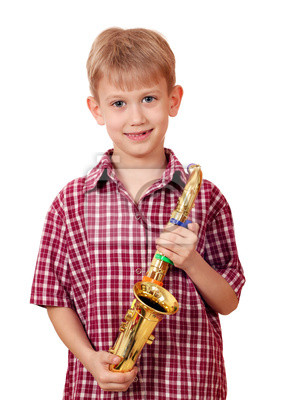 Chłopiec z saksofon
