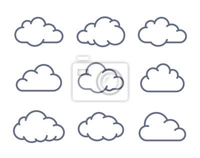 Obraz Chmura kolekcja kształtów