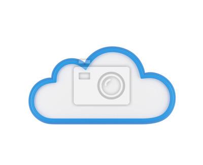 Obraz Chmura niebieski puste